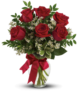 Thoughts of You Bouquet with MED Red Roses - Deluxe