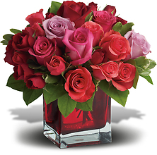 Madly in Love Bouquet with 24 Multi Color Roses