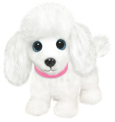 "7"" Wuffles Poodle pup 7\"" sitting"
