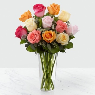 Rosy Glow Assorted color Roses